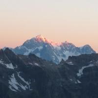 In lontananza sua maestà, il Monte Bianco