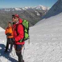 Alle spalle il Monte Bianco… Magari sarà lui la prossima meta?