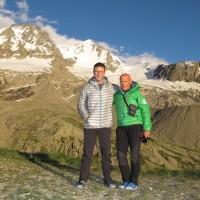 Sullo sfondo la nord del Gran Paradiso: Fabio e Abele pronti per domani