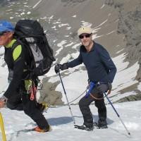 """Fabio """"legato all'esperienza"""" della grande guida alpina Abele Blanc"""