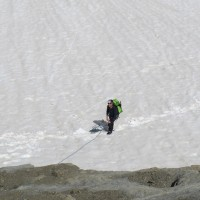 Gli ultimi passi sul ghiacciaio...