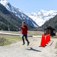 Gara di corsa durante Biathlon Loisir a Cogne