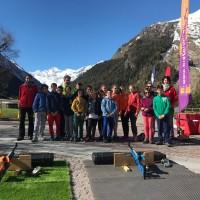 Il gruppo di partecipanti a Cogne