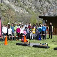 Il gruppo di partecipanti a Rhemes-Saint-Georges